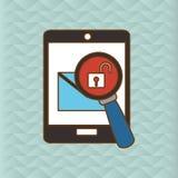 Cyber Security antivirus design Stock Images