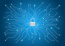 Cyber security background royalty free illustration