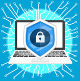 Cyber security. Background cyber security vector ,illustration for website royalty free illustration