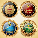 Cyber Security badge collection. Set of cyber security badges Stock Image