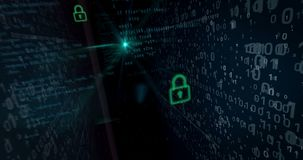 Cyber security breach concept stock video footage