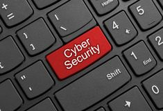 Free Cyber Security Button On Keyboard Royalty Free Stock Photo - 159502195