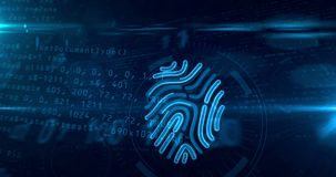 Free Cyber Security By Fingerprint Concept Royalty Free Stock Photography - 138816377