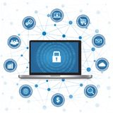 Cyber Security concept Royalty Free Stock Photos