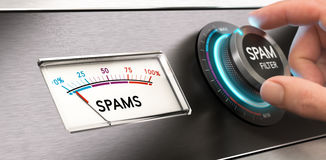Cyber Security Concept, Anti Spam Filter. Royalty Free Stock Images
