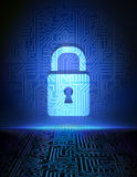 Cyber security concept background. Stock Photos