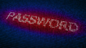 Cyber security concept. Binary code forming the word password - cyber security concept Stock Images