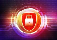 Cyber security concept. Digital illustration royalty free illustration