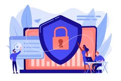 Free Cyber Security Concept Vector Illustration. Stock Image - 161180191