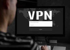 Cyber security concept. VPN royalty free stock images