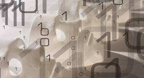 Cyber security conception big data. Cyber security binary code abstract background Stock Images