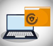 Cyber security confidential information folder file. Vector illustration eps 10 Royalty Free Stock Photography