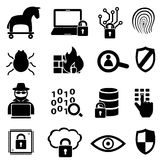 Cyber security and data icons Stock Image