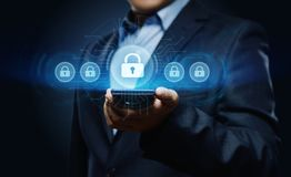 Cyber Security Data Protection Business Technology Privacy concept.  Royalty Free Stock Image