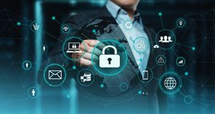 Cyber Security Data Protection Business Technology Privacy concept.  royalty free stock images