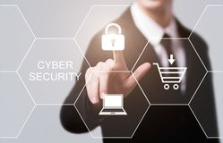 Cyber Security Data Protection Business Technology Privacy concept Stock Images