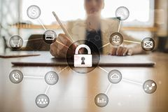 Cyber security, Data protection, information safety and encryption. internet technology and business concept. Stock Images