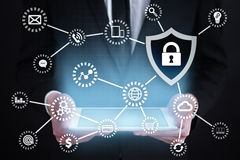 Cyber security, Data protection, information safety and encryption. Royalty Free Stock Image