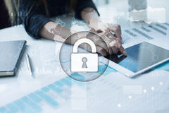 Cyber security, Data protection, information safety. internet technology concept Stock Photos