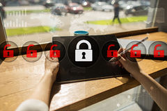 Cyber security, Data protection, information safety. technology business concept Stock Images