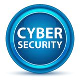 Cyber Security Eyeball Blue Round Button royalty free illustration