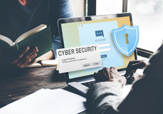 Cyber Security Firewall Privacy Concept Royalty Free Stock Photo