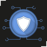 Cyber security flat design long shadow icon Royalty Free Stock Image