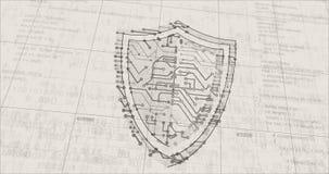 Cyber security futuristic sketch
