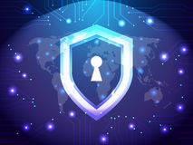 Cyber Security Guard Network Stock Photos