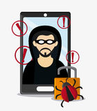 Cyber security hacker esign Royalty Free Stock Images