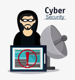 Cyber security hacker esign Stock Photo