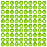 100 cyber security icons set green. 100 cyber security icons set in green circle isolated on white vectr illustration stock illustration