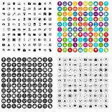 100 cyber security icons set variant. 100 cyber security icons set in 4 variant for any web design isolated on white royalty free illustration