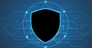 Cyber security and information or network protection. Future tec. Cyber security and information or network protection. Future cyber technology web services for Stock Photography