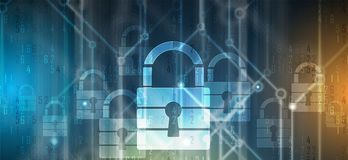 Cyber security and information or network protection. Future tec. Cyber security and information or network protection. Future cyber technology web services for Royalty Free Stock Images
