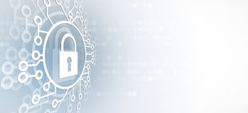 Cyber security and information or network protection. Future tec Stock Photos