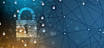 Cyber security and information or network protection. Future tec. Cyber security and information or network protection. Future cyber technology web services for Royalty Free Stock Photo