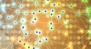 Cyber security and information or network protection. Future tec. Cyber security and information or network protection. Future cyber technology web services for Stock Images