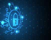 Cyber security and information or network protection. Future tec. Cyber security and information or network protection. Future cyber technology web services for Stock Image