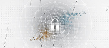 Cyber security and information or network protection. Future tec. Cyber security and information or network protection. Future cyber technology web services for Stock Photos