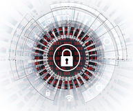Cyber security and information or network protection. Future tec. Cyber security and information or network protection. Future cyber technology web services for Royalty Free Stock Image
