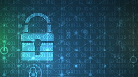 Cyber security and information or network protection. Future tec stock footage