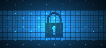 Cyber security and information or network protection. Future tec Stock Image
