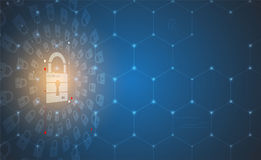 Cyber security and information or network protection. Future tec Royalty Free Stock Photography