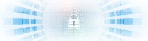 Cyber security and information or network protection. Future tec Stock Images