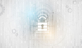 Cyber security and information or network protection. Future tec Stock Photo