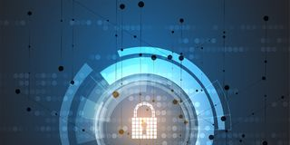 Cyber security and information network protection. Future technology web services for business and internet project. Cyber security and information or network Royalty Free Stock Photography