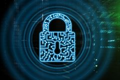 Cyber Security lock icon Information Privacy Data Protection internet and Technology concept.  royalty free stock image