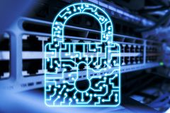 Cyber Security lock icon Information Privacy Data Protection internet and Technology concept.  royalty free stock photography