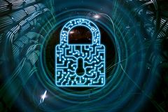 Cyber Security lock icon Information Privacy Data Protection internet and Technology concept. Cyber Security lock icon Information Privacy Data Protection royalty free stock photography